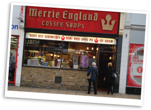 Merrie England Coffee Shop in Brighouse